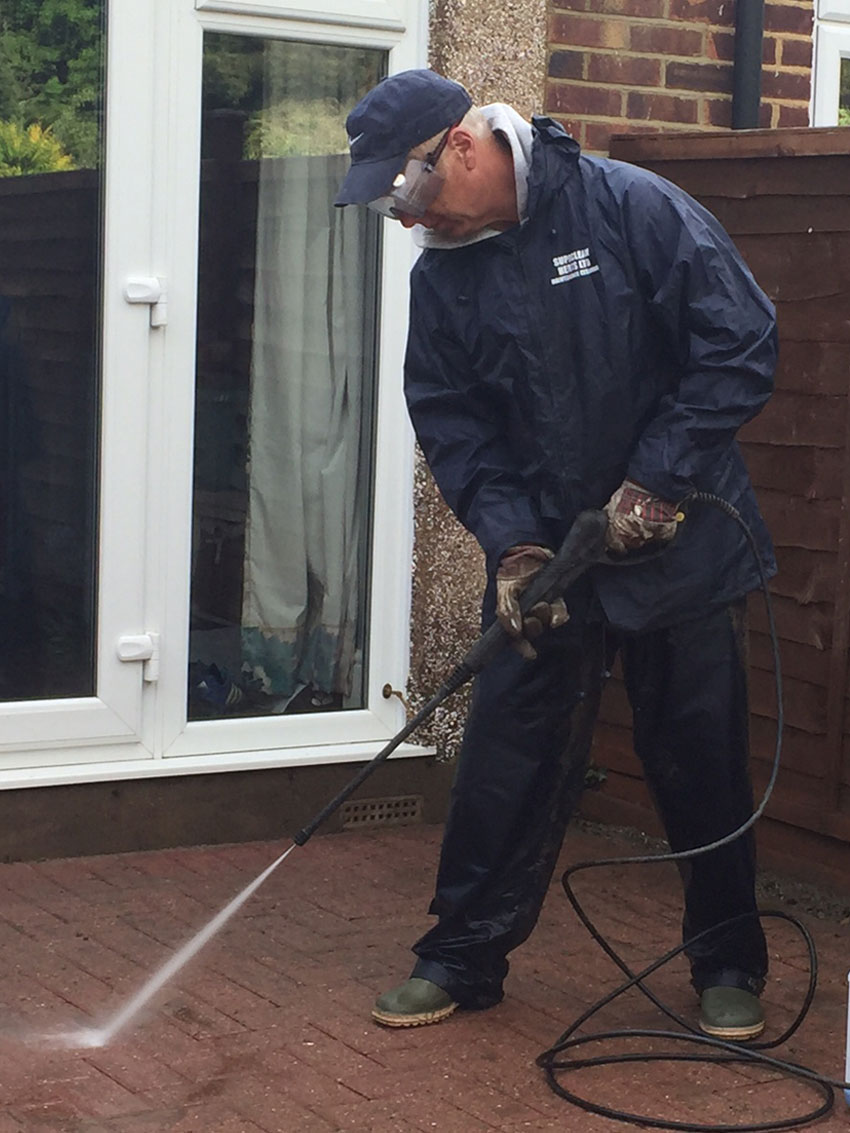 Patio Cleaning with Jet Wash