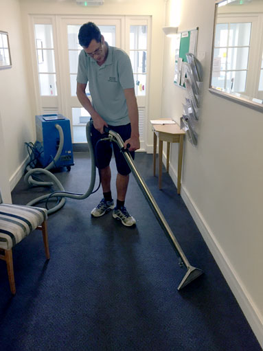 carpet cleaning at care home