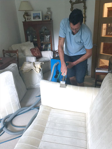cleaning settee